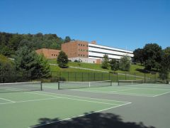 Gilbert School with tennis courts