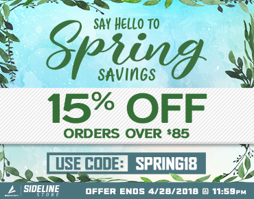 15% off orders over $85.00 coupon code SPRING18