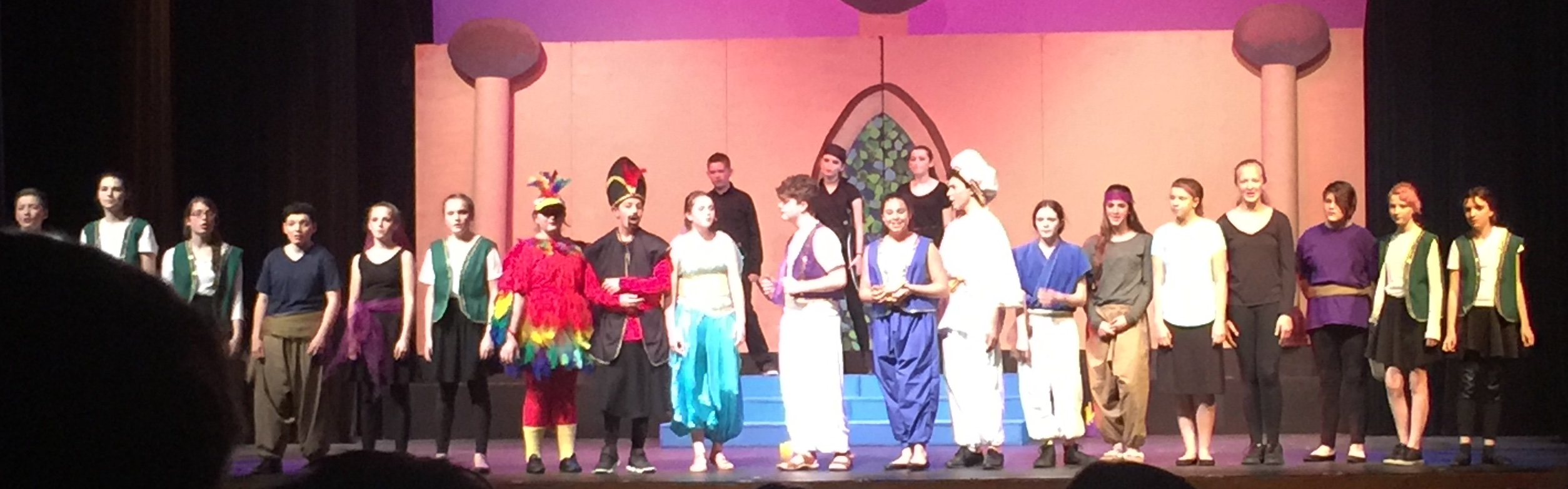 Middle School Drama Club Aladdin Production