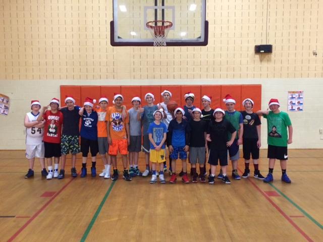 Middle School Boys Basketball team 2016